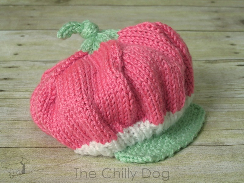 Dog Baby Hat Knitting Pattern : Knitting Pattern: Baby Strawberry Hat The Chilly Dog