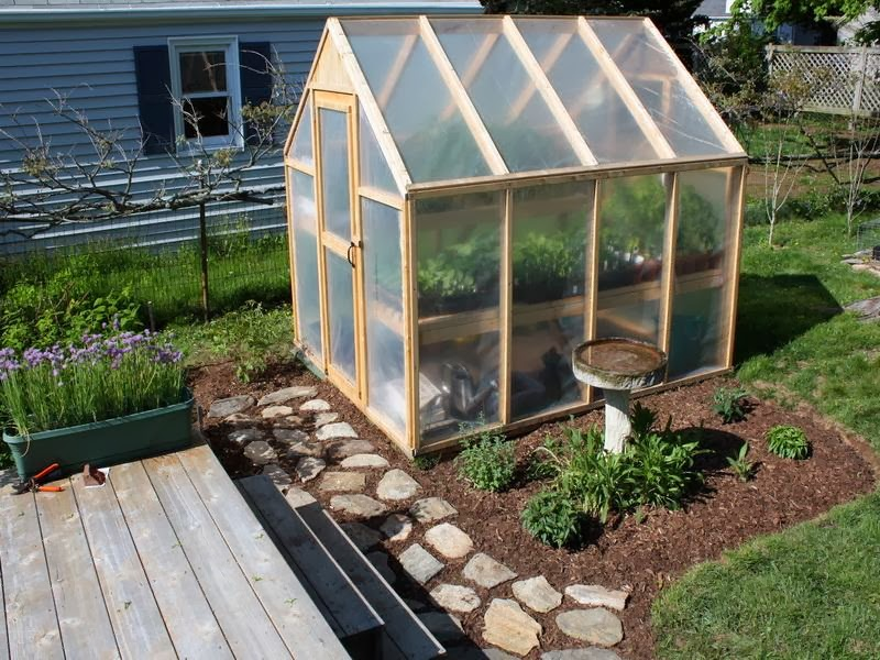 The sustainable couple thoughts on a backyard greenhouse for Small wooden greenhouse plans