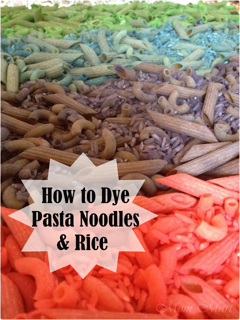 How to Dye Pasta Noodles & How to Dye Rice