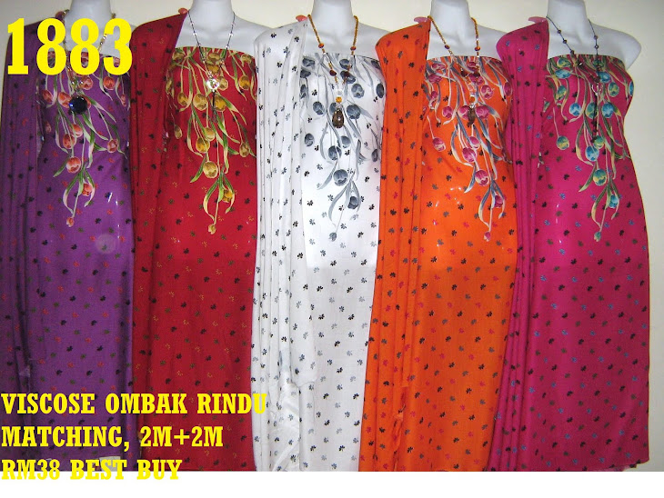 VOM 1883: VISCOSE OMBAK RINDU MATCHING, 2M+2M, CORAK BUNGA TULIP