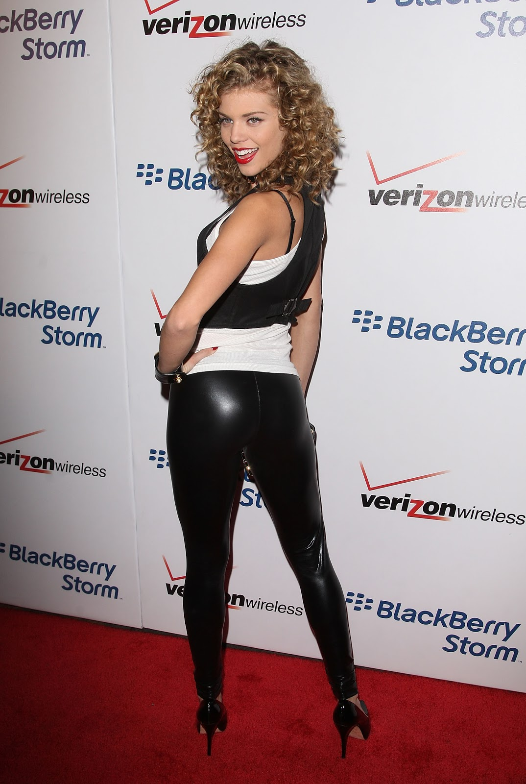 Lovely Ladies In Leather Annalynne Mccord In Tight Shiny