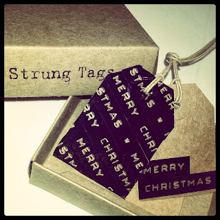 Kraft Tags with Typewriter Tape