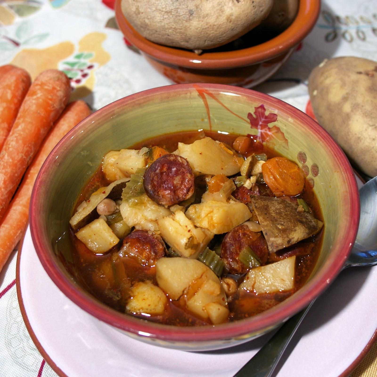 Spanish Chorizo Chickpea Stew- simplelivingeating.com