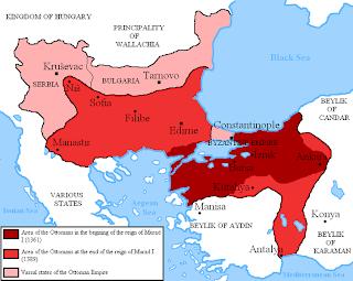 peta dinasti ustmani masa pemerintahan murad I
