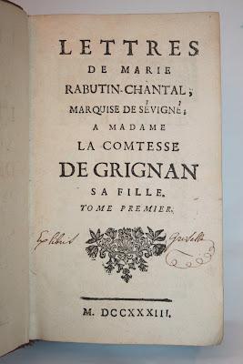 Lettres de Marie Rabutin-Chantal, Marquise de Sévigné (1733)  dans Auteurs, écrivains, polygraphes, nègres, etc. sevigne-1