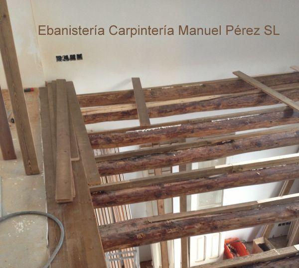 Ebanisteria carpinteria manuel perez zaragoza altillo de madera con vigas zaragoza - Altillos de madera ...