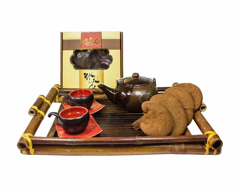 Sử dụng Nấm Linh Chi sẽ giúp chị em ăn tết vui vẻ mà vẫn không lo bị béo