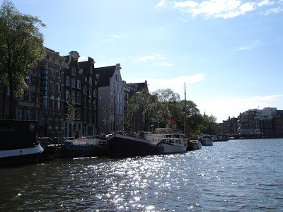 Amsterdam boats on the canals