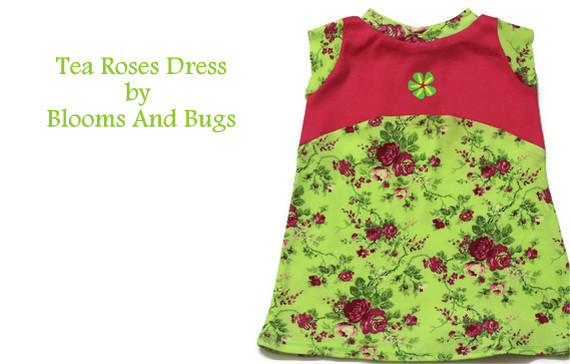 tea roses dress sewing pattern and tutorial