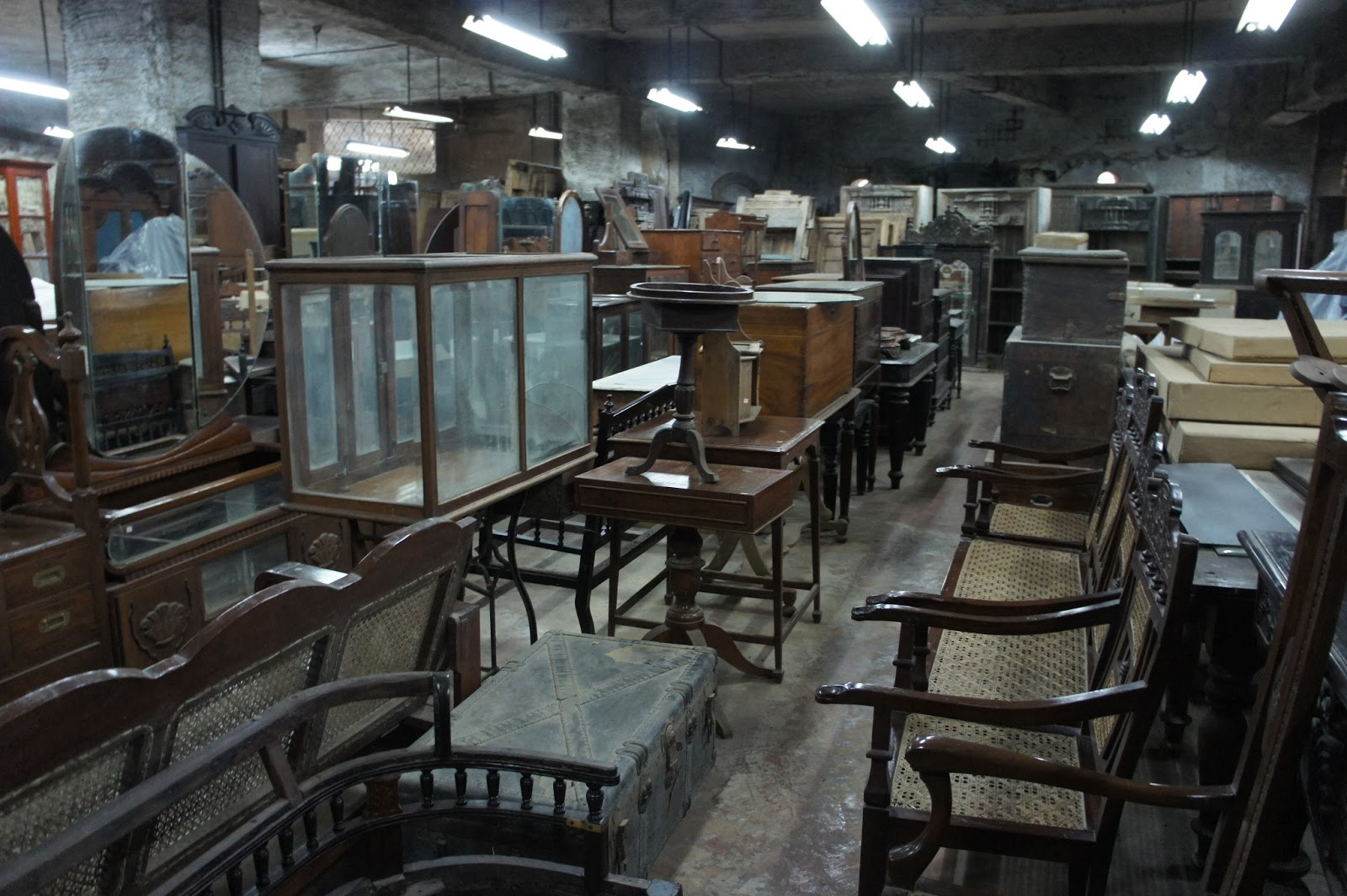 The Raj Company: the ground floor has all the original antiques & BombayJules: Where to Buy Colonial Antique Furniture in Mumbai