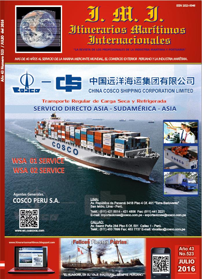 Revista Itinerarios Marìtimos.¡Pídela!