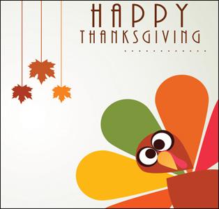 Happy Thanksgiving turkey graphic