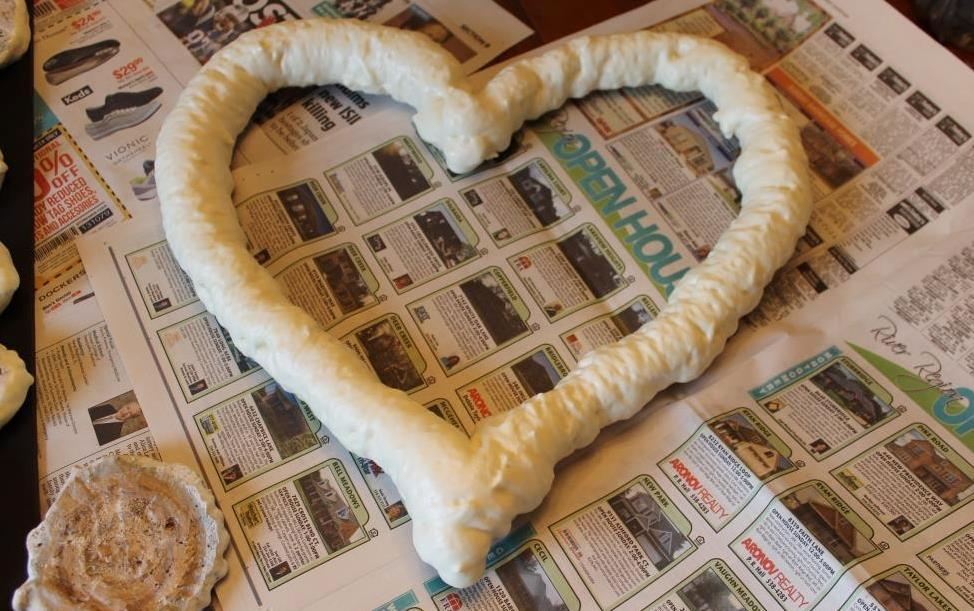 DIY heart wreath