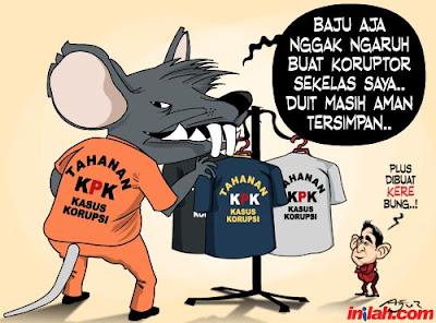 Kartun lucu korupsi (koruptor makin sulit dibasmi)