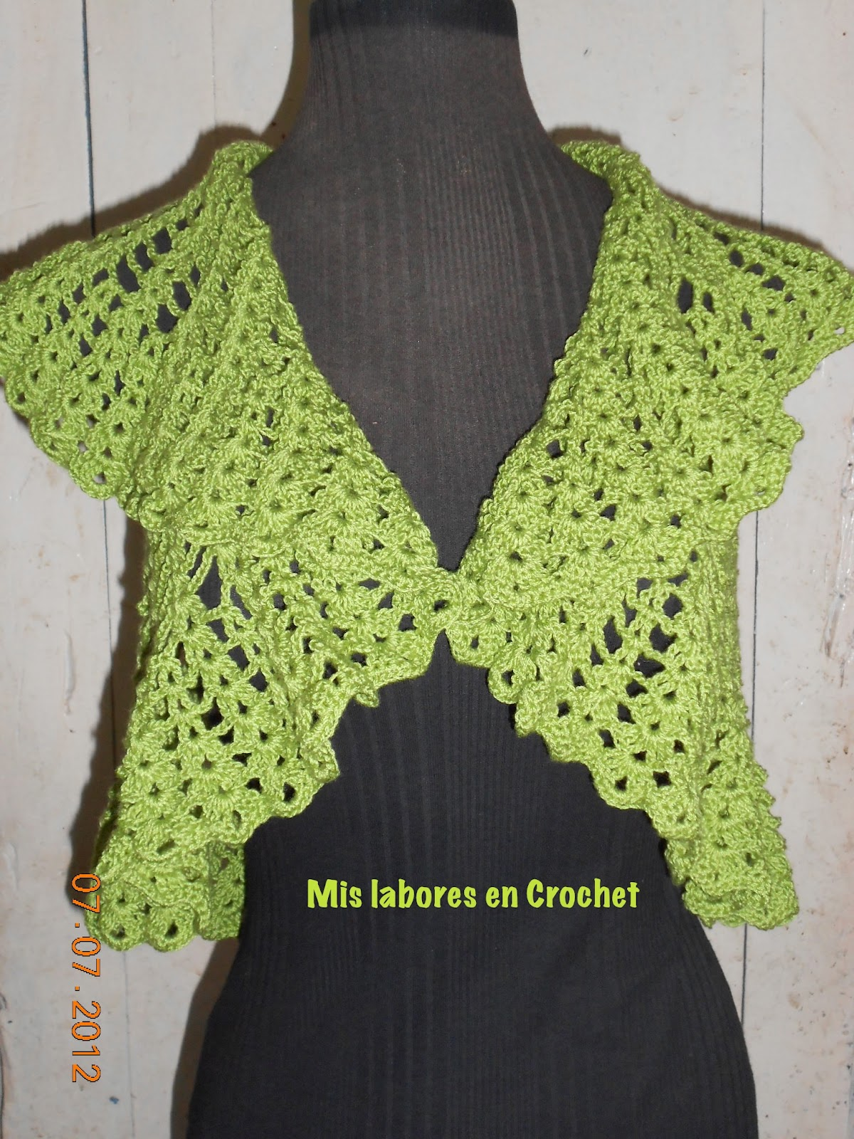 Mis labores en Crochet: Torera en redondo