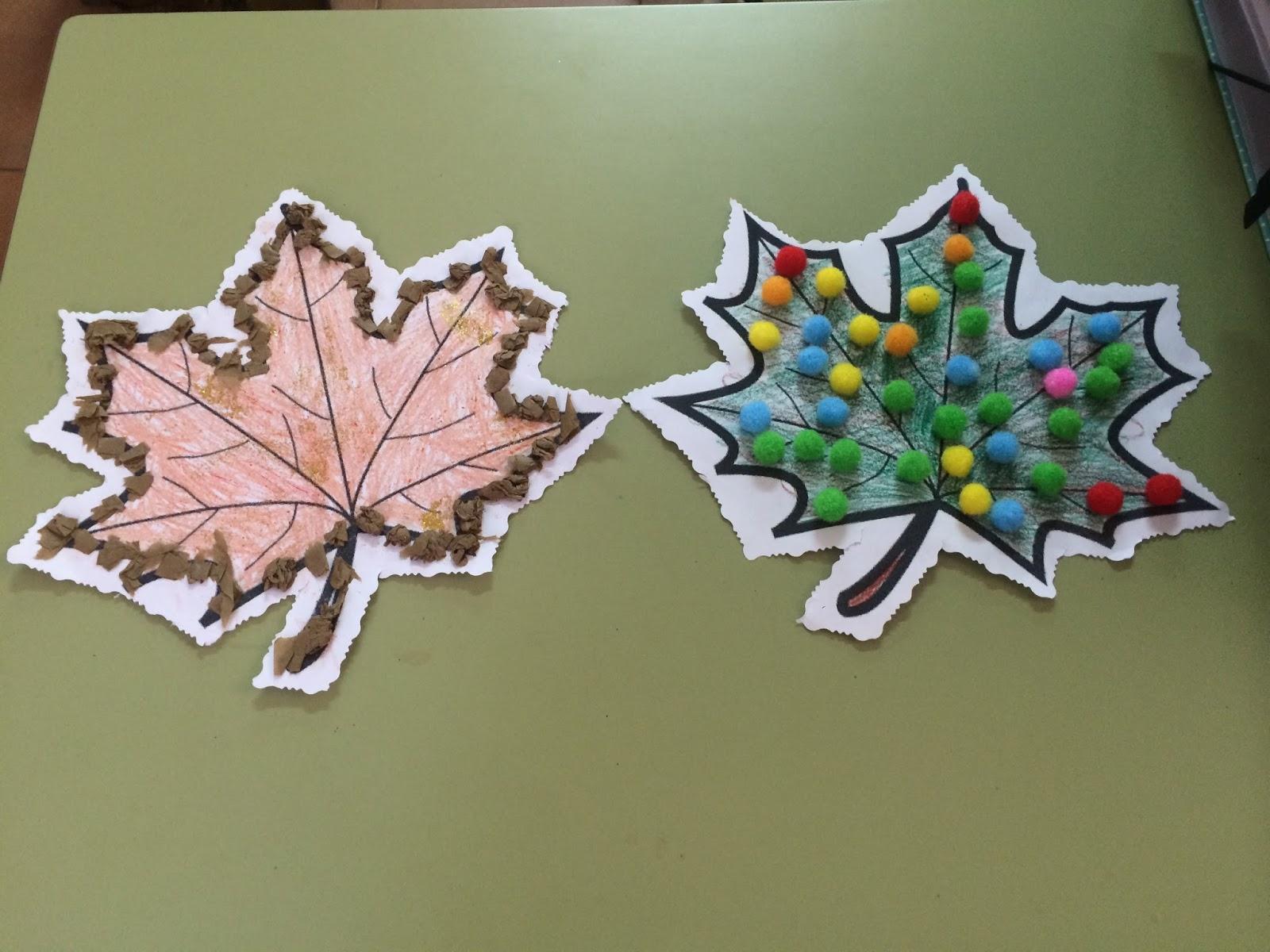 Blog jos loustau el oto o en el aula de 3 a os - Decorar hojas de otono ...