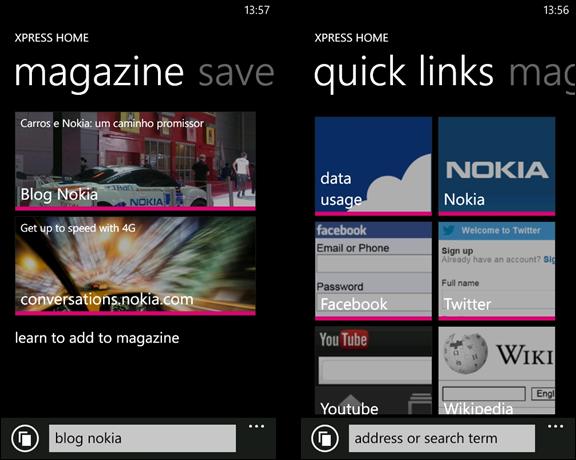 Nokia Xpress Browser Beta (XAP) – Novo navegador Web cheio ...