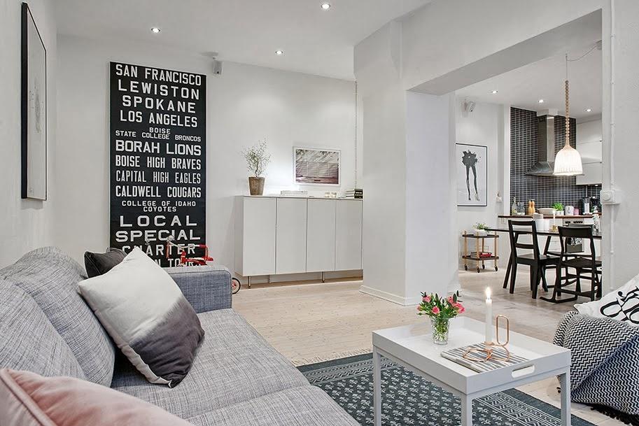 Ideas y almacenaje de un piso de estilo n rdico boho - Piso estilo nordico ...