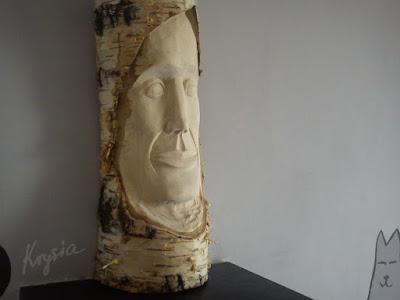 """Rzeźba """"Leśny ludek #5"""" Adrian Bienias Ethro"""