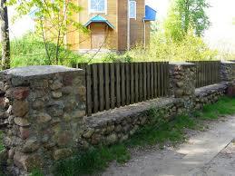 Каменный забор. Фото 28