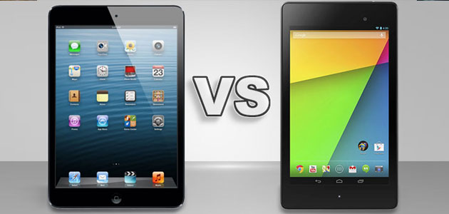 ipad mini vs new nexus 7
