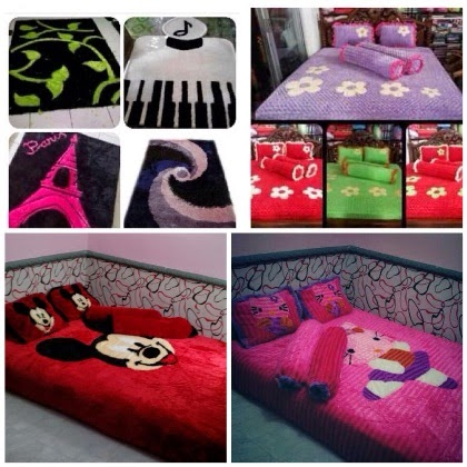 [NEW] PUSAT GROSIR BED COVER RASFUR & SNAIL ANEKA MOTIF