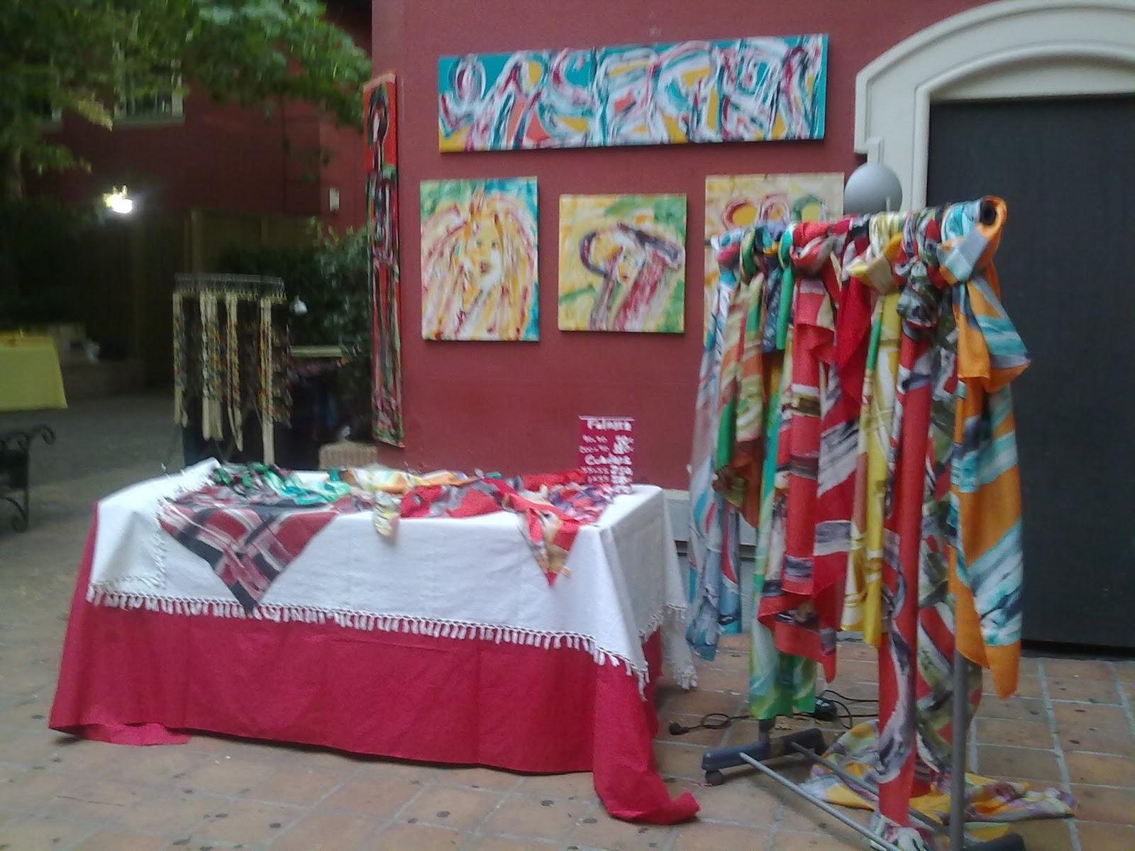 Muestrario de pintura en seda y aplicaciones Clara Tengonoff