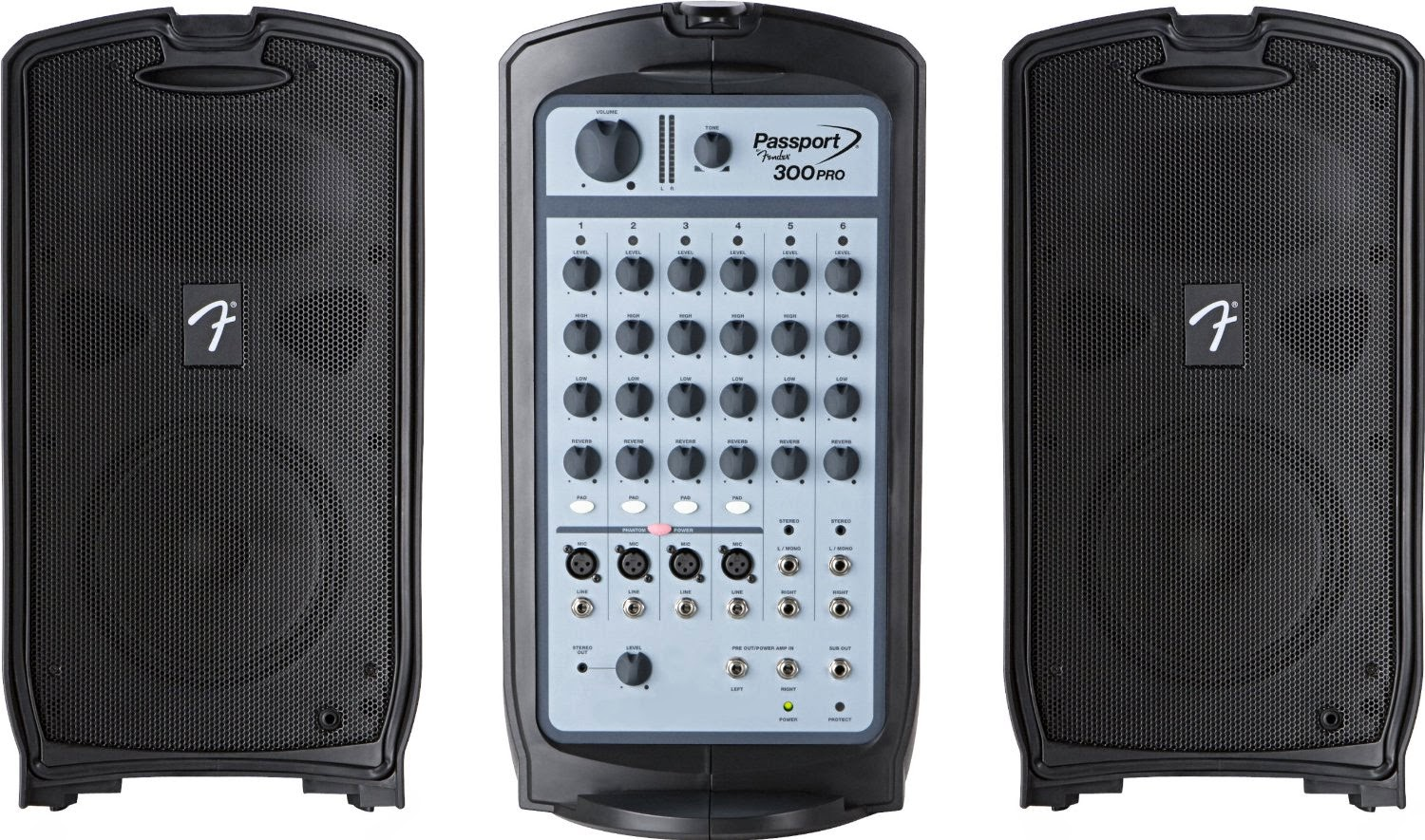 Best fender passport 300 pro pa system with mixer and for Woofer speaker system