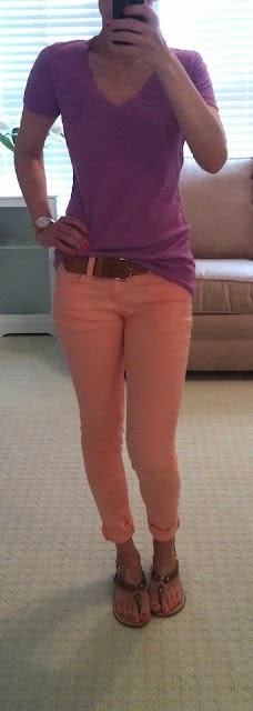 I so want a pair of peach pants. My peach shorts just aren't enough.