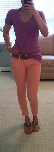 I so want a pair of peach pants. My peach shorts just aren't enough.