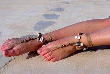 Earth Tones Barefoot Sandals With Shells And Wood Beads
