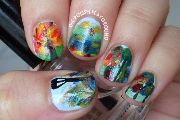 A Walk in the Park Nail Art