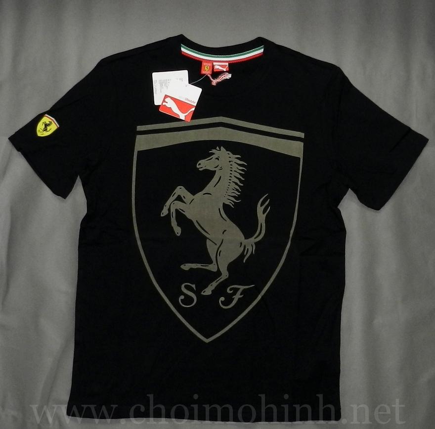 Áo thun Ferrari Puma lifestyle BLACK front