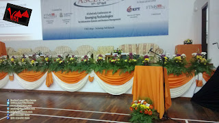 International Conference ASCENT 2013 at FTMS Global College - Fresh flower and Scallop setting by Vina Canopy & Decor