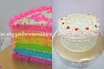 Fruity rainbow cake with cream cheese frosting