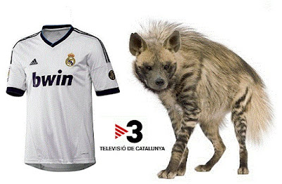 Real Madrid jersey with a hyena