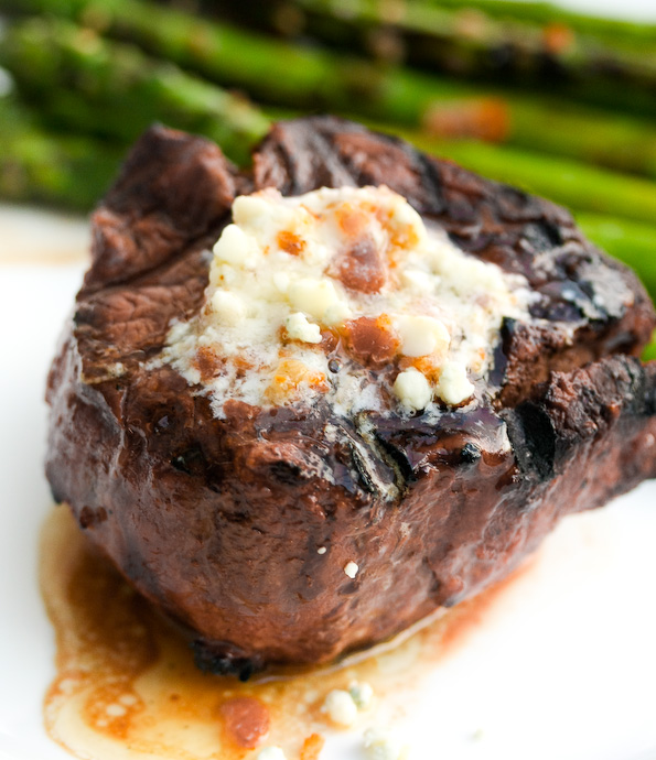 Grilled Ribeyes with Bleu Cheese Butter | Mindless Wanderings