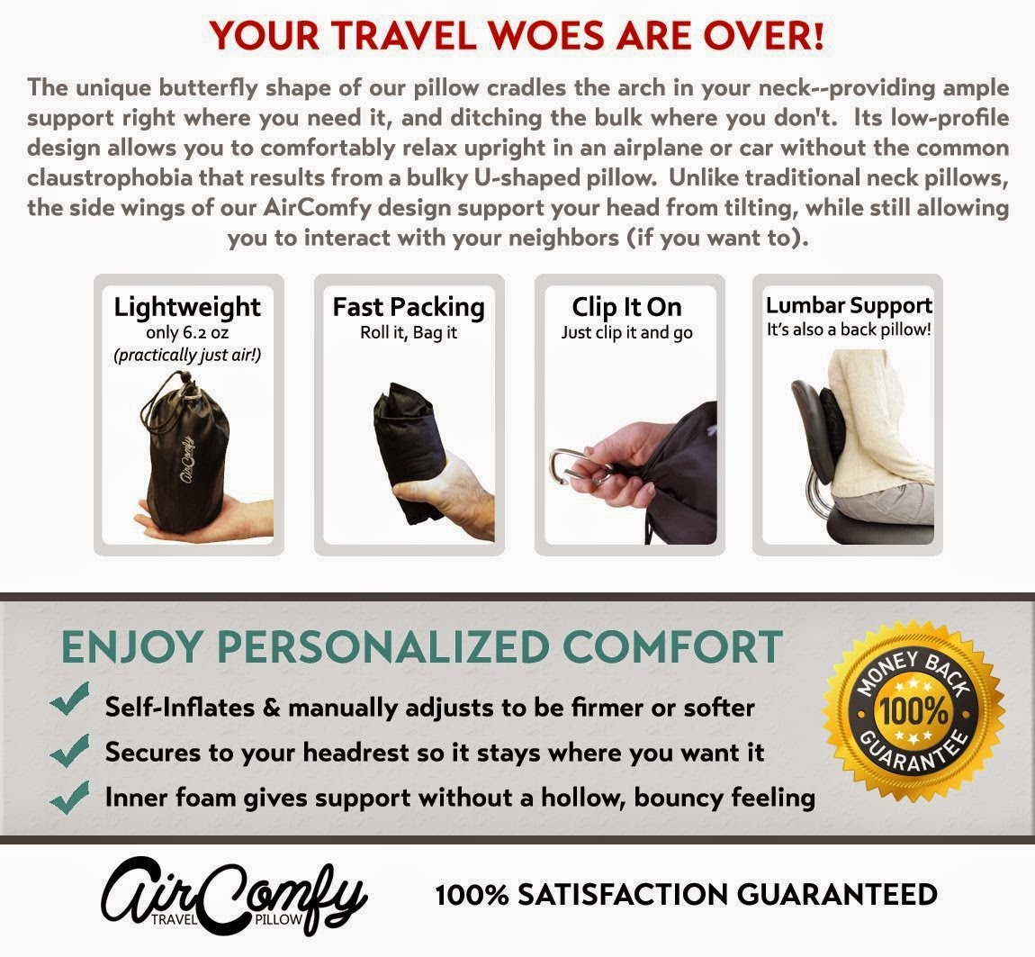 The AirComfy Travel Pillow
