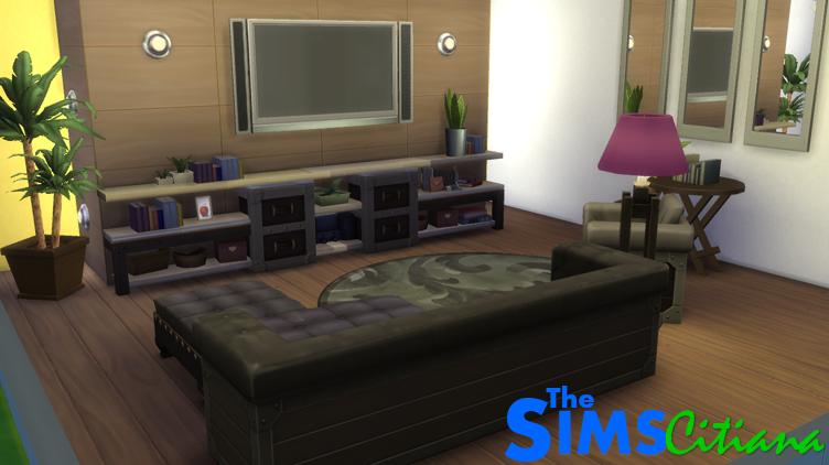 Simscitiana sala de tv contempor nea the sims 4 for Sala de estar the sims 4