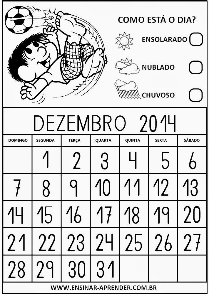 Meu Calendário de 2014 - Turma da Mônica - Para as Crianças