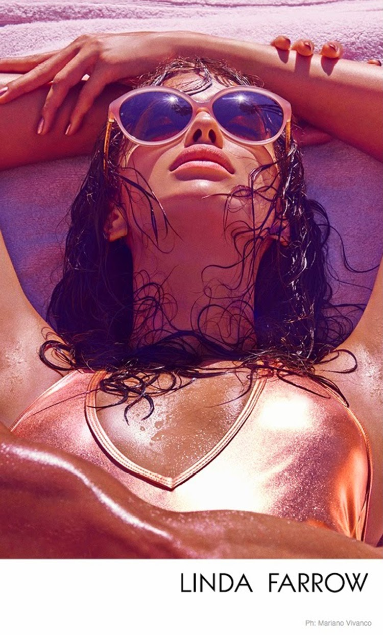 Irina Shayk for Linda Farrow Sunglasses SpringSummer 2015 Campaign