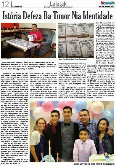 Historia iha Jornal Matadalan