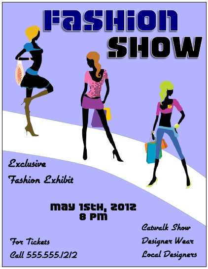 Flyer tutor graphic design blog crop images in inkscape for Fashion show ticket template