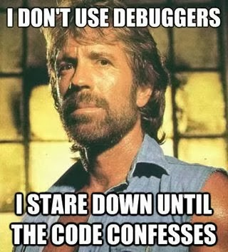 I don't use debuggers