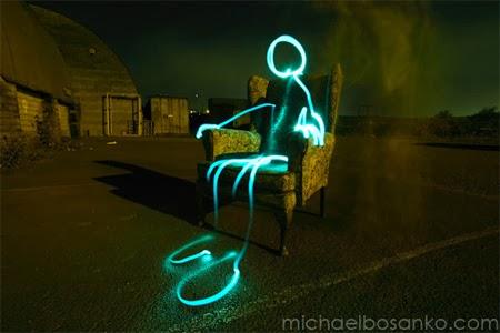 Light Grafity Armchair Alien by Michael Bosanko