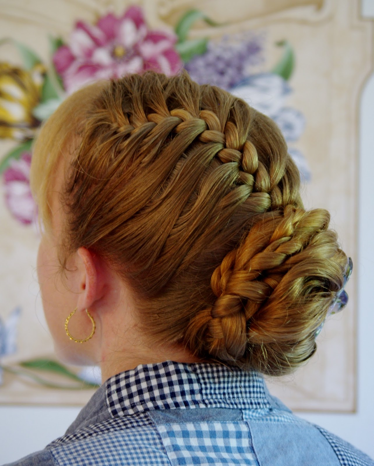 Plait Updo Hairstyles: Braids & Hairstyles For Super Long Hair: Half-Updo French