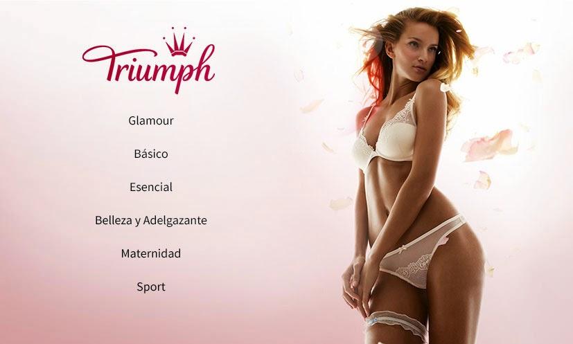 Secciones en oferta de ropa interior de la marca Triumph