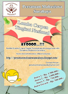 Lomba Cerpen PMS dunialombaku.blogspot.com