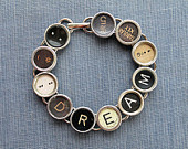 Typewriter Key Bracelet