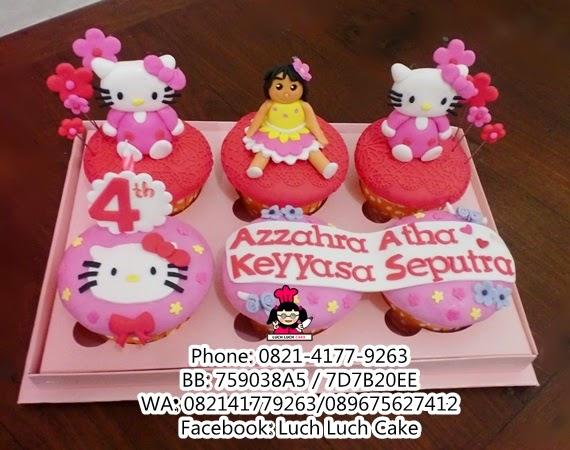 Cupcake Ulang Tahun Hello Kitty Daerah Surabaya - Sidoarjo